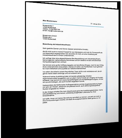 bewerbung als industriekaufman - Bewerbung Industriekaufmann