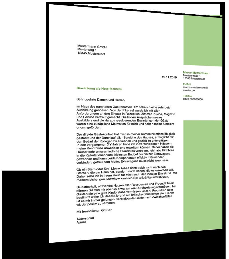 Bewerbung Hotelfachmann 2021 Inkl Muster Jobs Regional 2