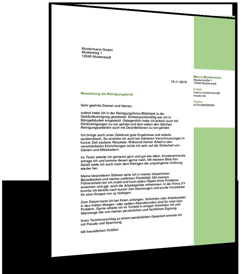 Bewerbung Reinigungskraft Kostenlose Muster Vorlagen Tipps 4
